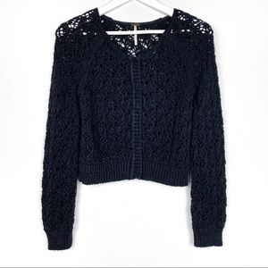 Free People | Chains of Love crop Cardigan crochet
